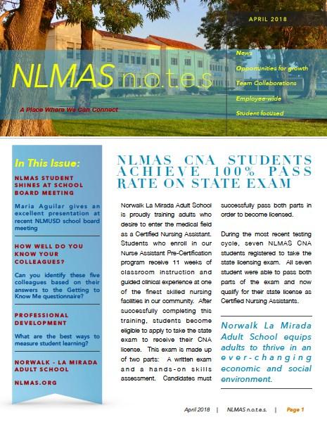 NLMAS April n.o.t.e.s! Featured Photo