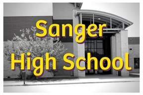 Sanger High School Image and Link to School Web Page