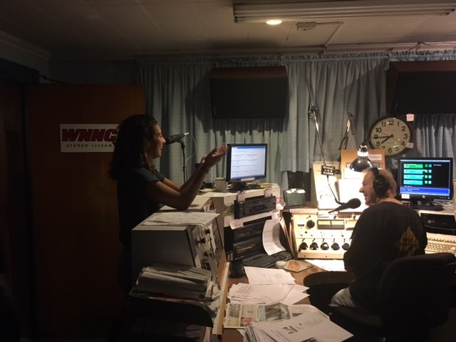 Madyson interning at WNNC Radio