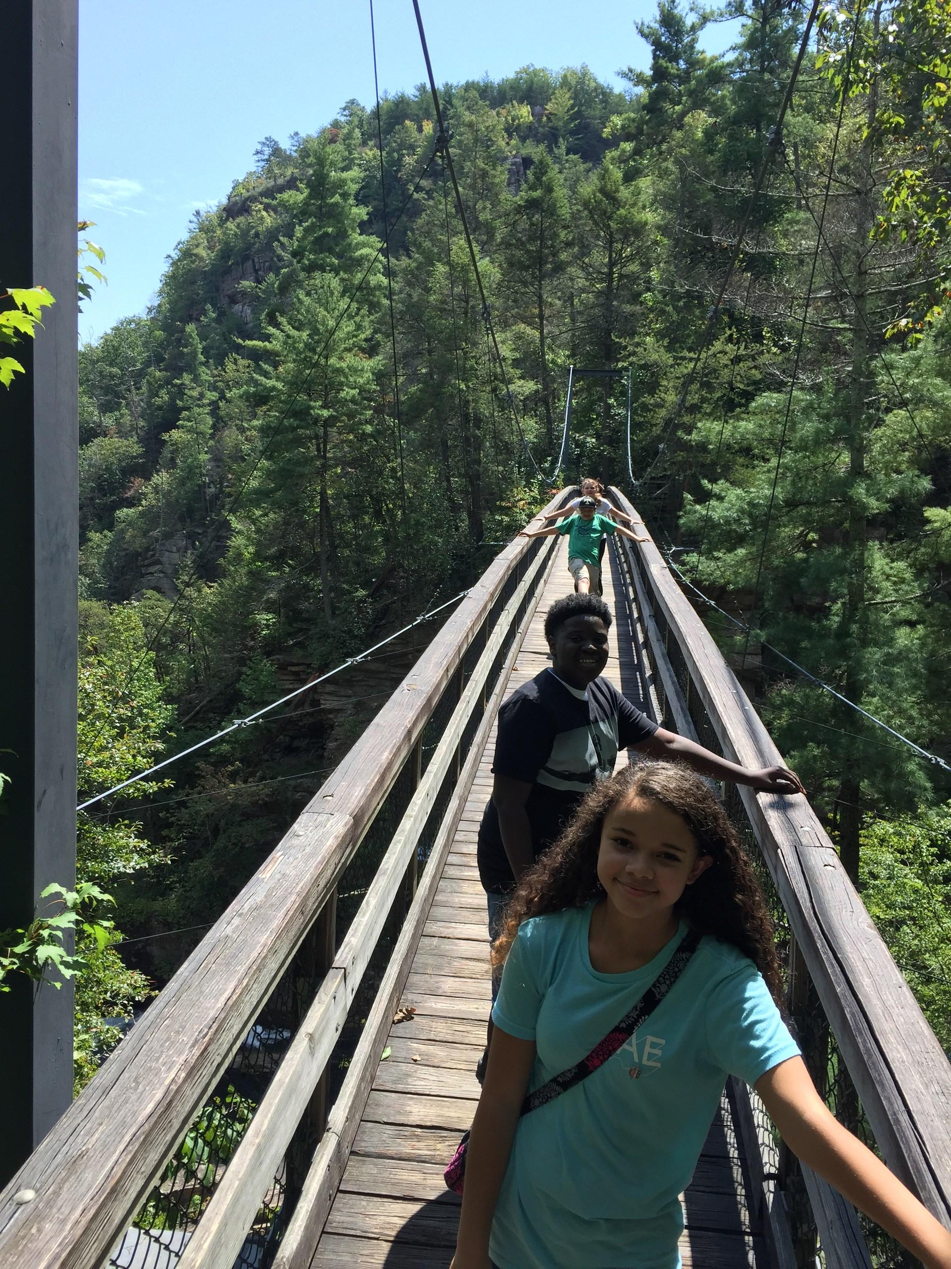Tallulah Gorge suspended bridge