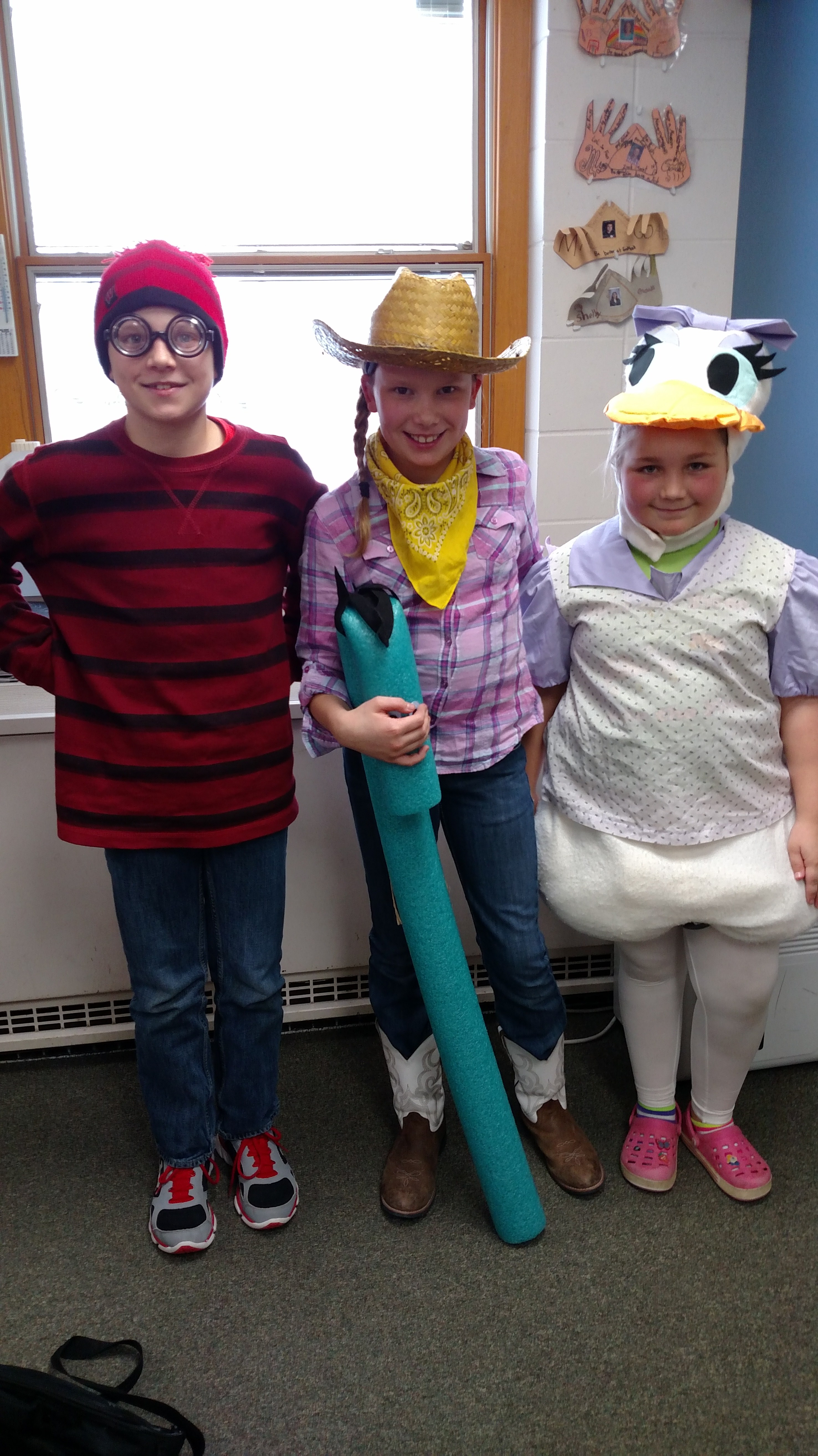 Students in costume.
