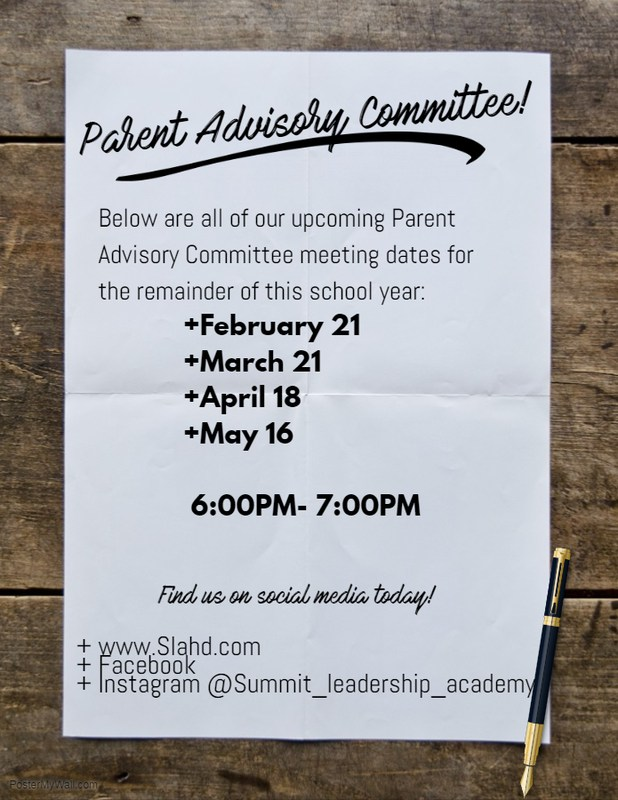 Parent Advisory Committee Upcoming Dates Thumbnail Image