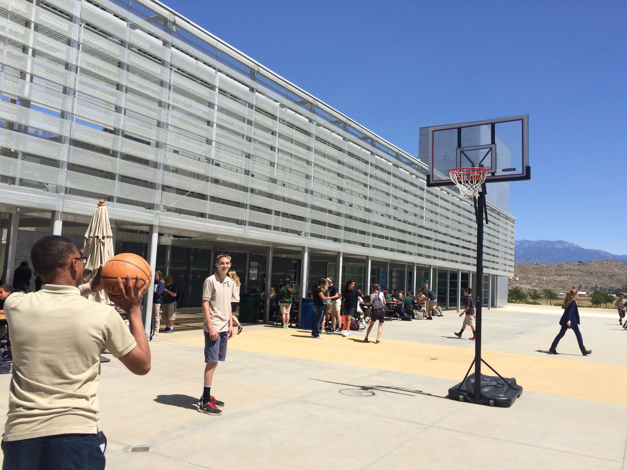 The 2nd Annual March Madness Free Throw Tournament sponsored by the WCA ASB happened last Thursday.  Fletcher Williamson won for 6th grade, and Jolene Armendariz was crowned champion for 7th/8th graders.  As per tradition, the winners receive one doughnut.