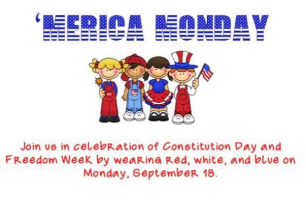 Constitution Day! Wear red, white, and blue on Monday! Thumbnail Image
