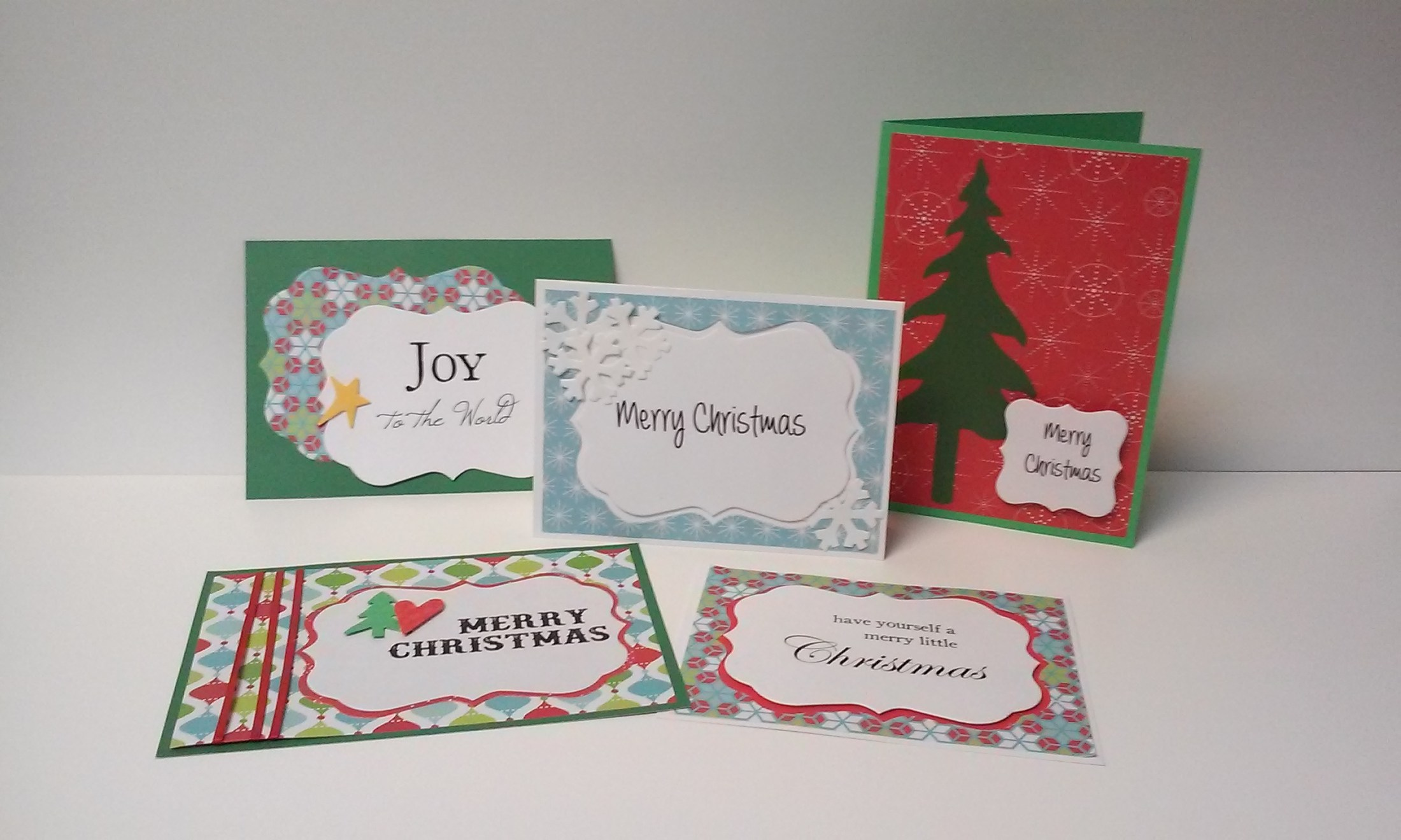 Christmas Cards all made here at the Teacher Center.