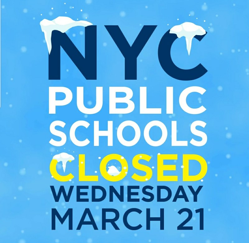 Weds 3/21 - NYC Public Schools are closed Featured Photo
