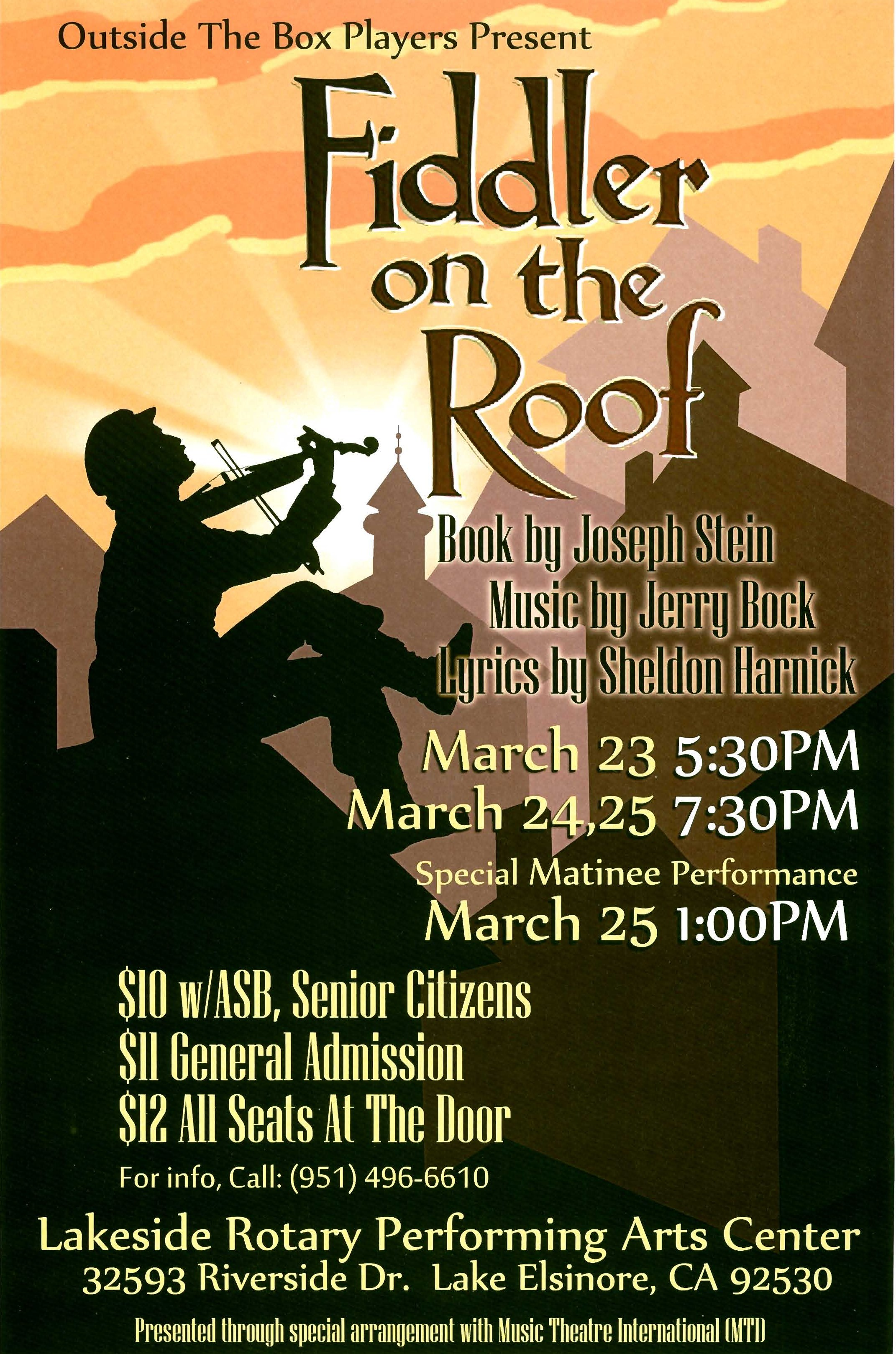 Fiddler on the Roof (Spring 2017)