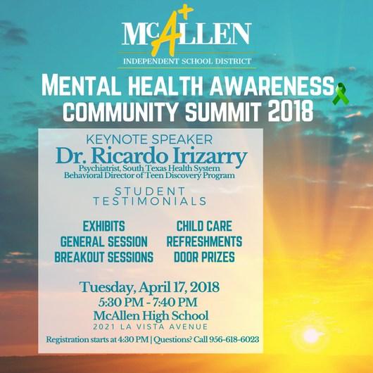 Mental health awareness community summit