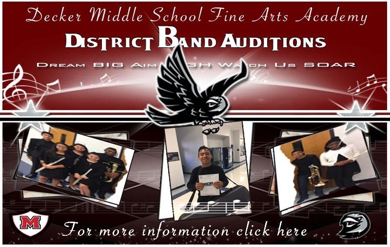 Decker Fine Arts Academy District Band Auditions Thumbnail Image