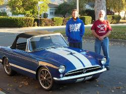 Jim Horton with his finished 1965 Sunbeam Tiger