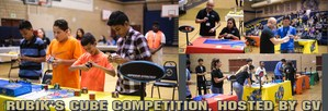 photos from Rubik's Cube Competition in GV gym
