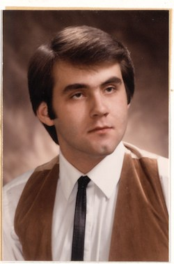 senior photo from 1986 of Ray Hatfield