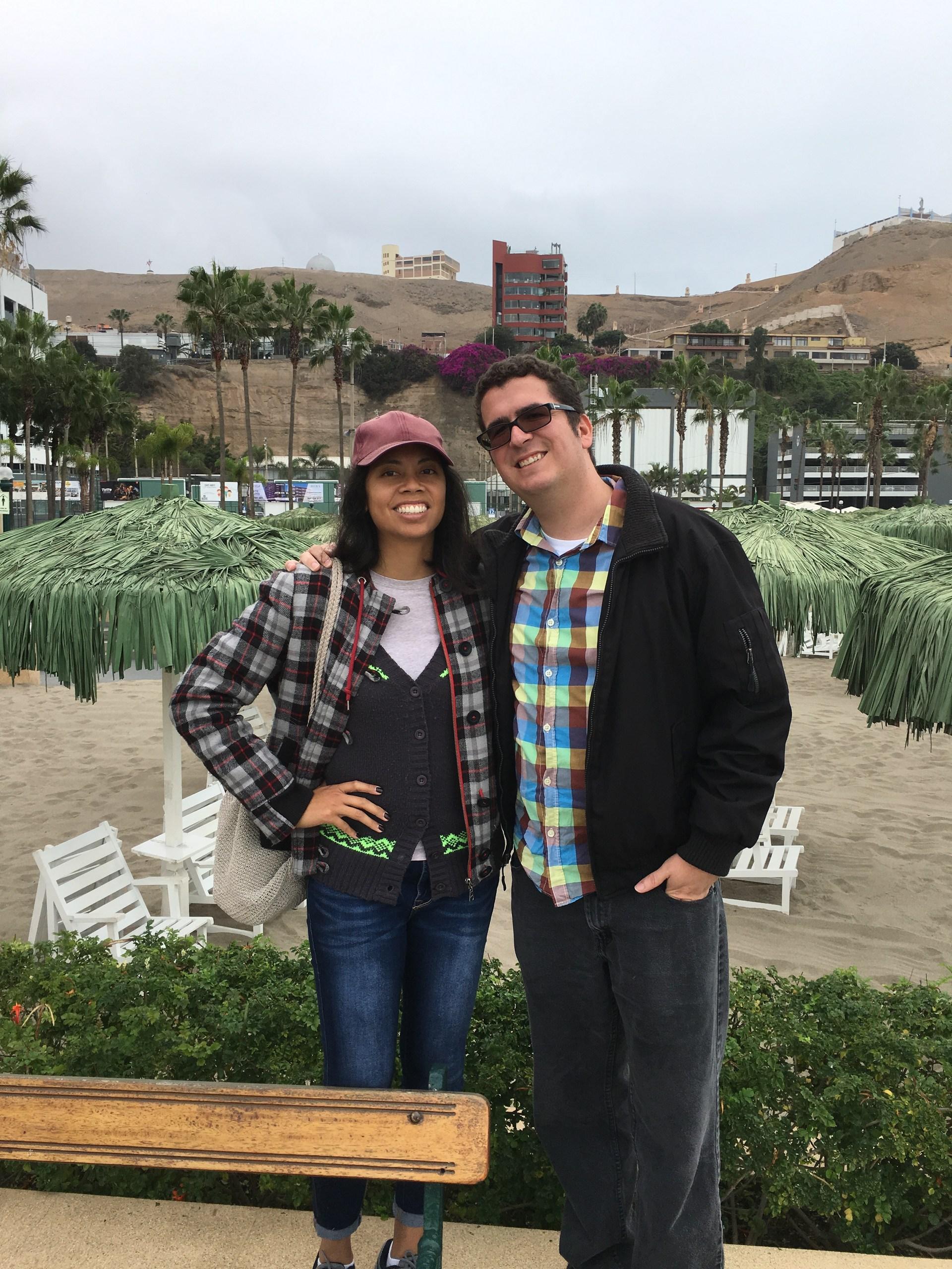 Mr. and Mrs. Baugh in Club Regatas in Chorrillos, Peru.
