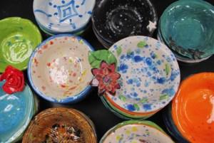 photo of clay bowls