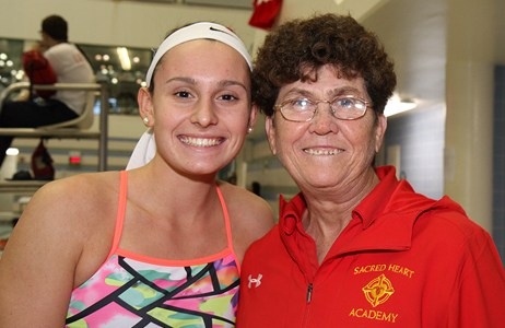 Swim Coach White and Lauryn Johnson Earn Top Honors; Five Student-Athletes Honored Featured Photo