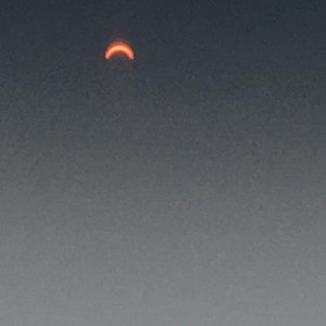 Picture of solar eclipse