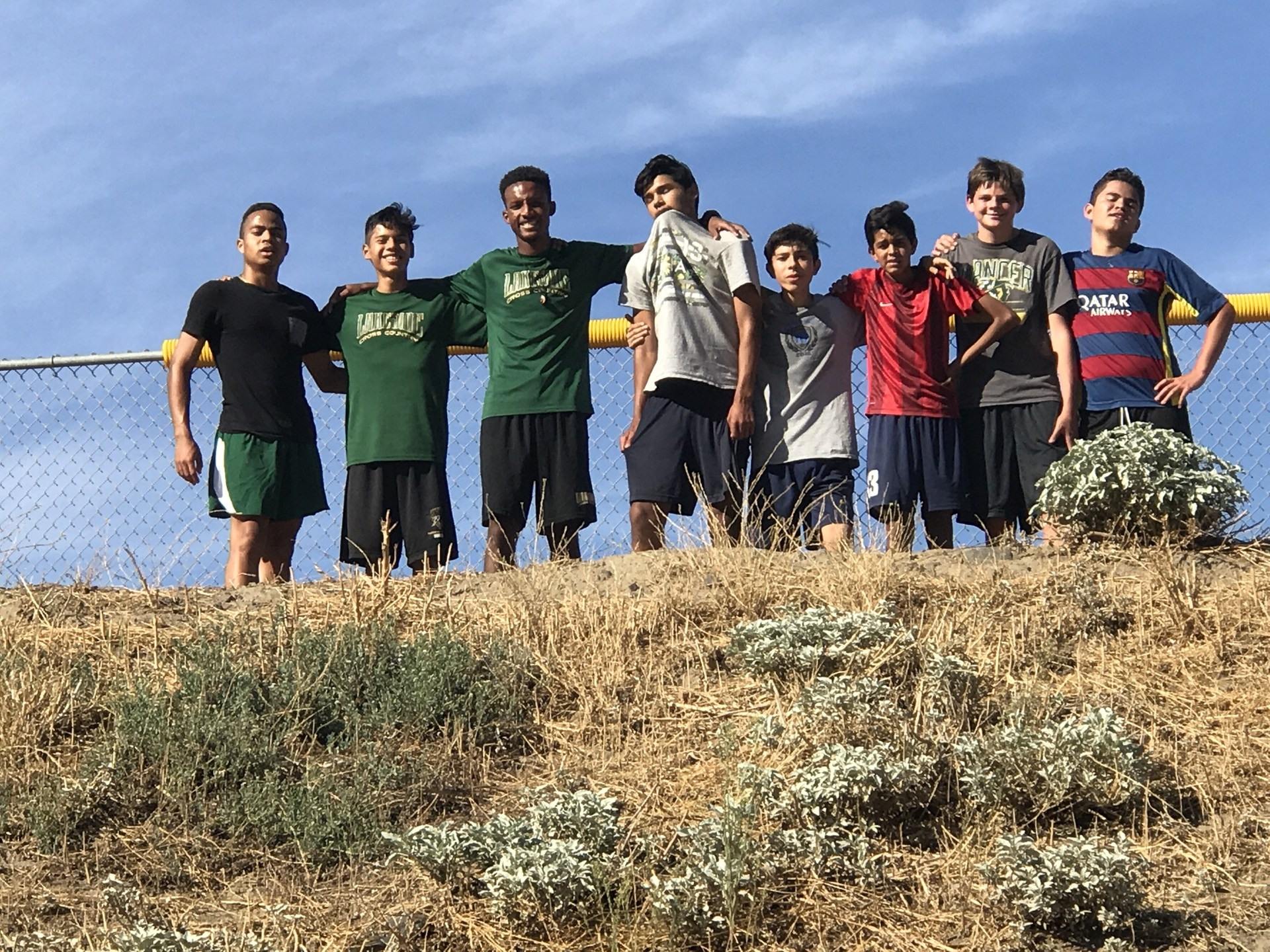 team picture after the hill