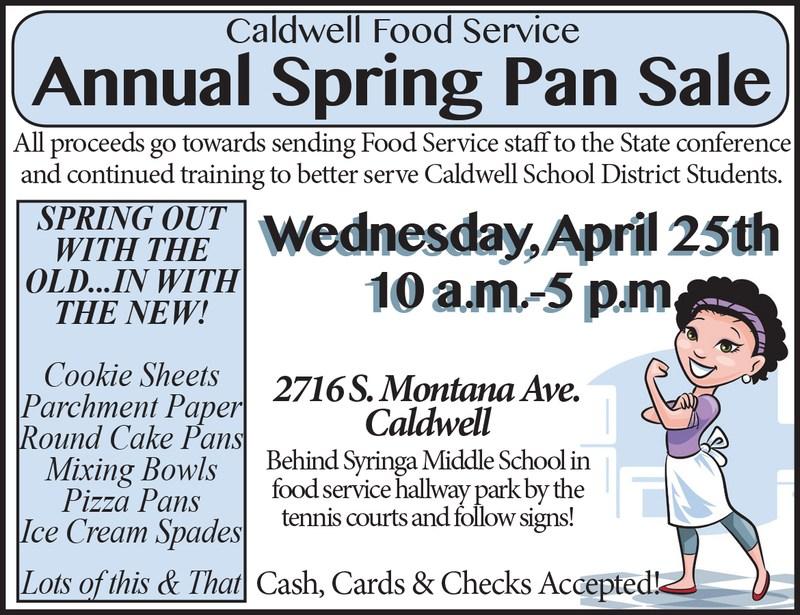 Caldwell Food Service Annual Pan Sale Thumbnail Image