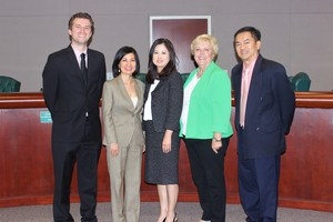 The Board of Trustees with Dr. Paik