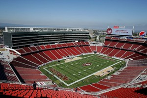 A high view of Levi's Stadium.