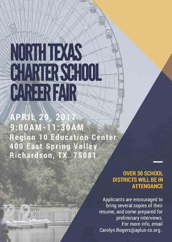North Texas Charter Schools : Career Fair on April 29th Thumbnail Image