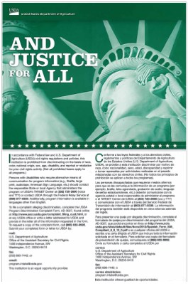 USDA And Justice for All Poster