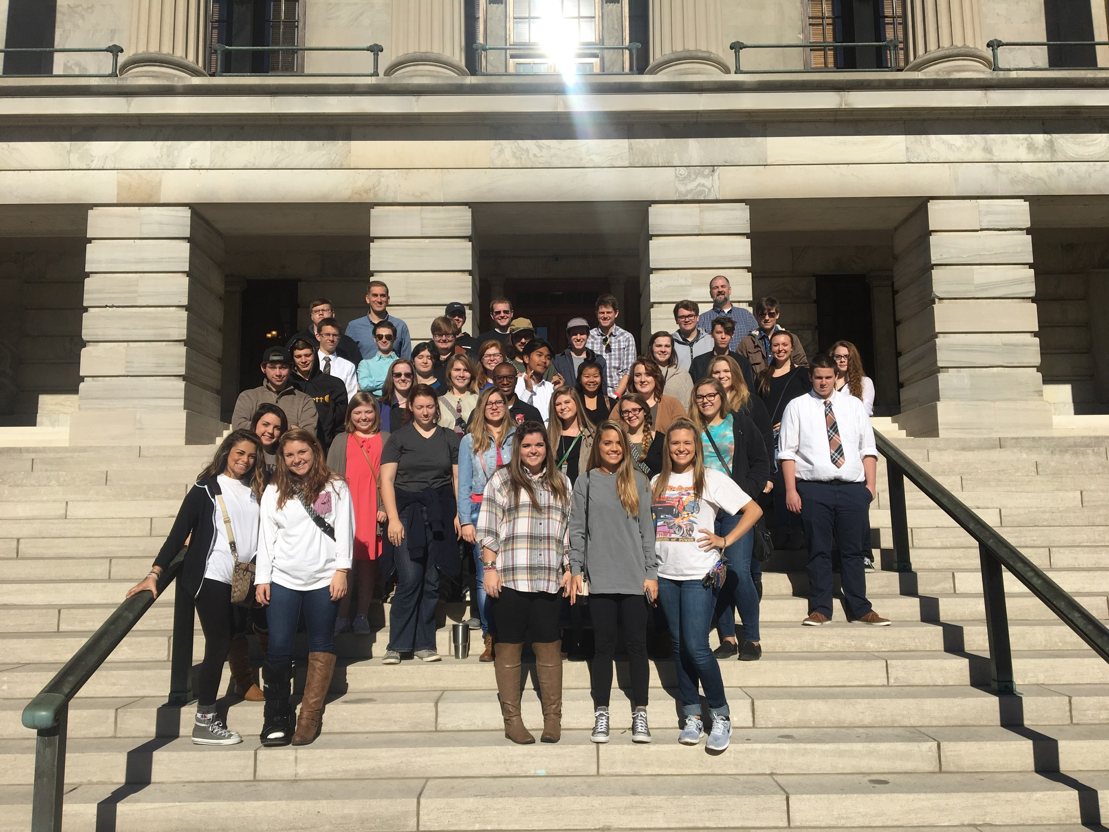 Historical Society Visits the State Capitol November 2016