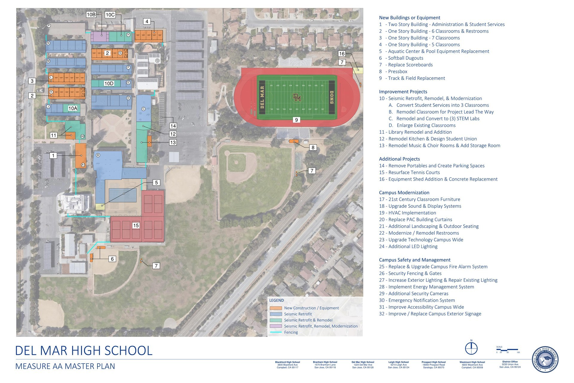 Image of Del Mar High School Measure AA Master Plan