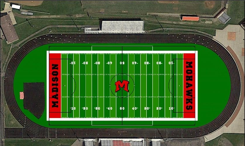 Field turf rendering