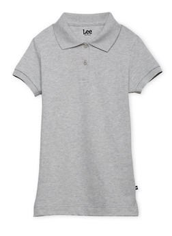 Girls Gray Polo
