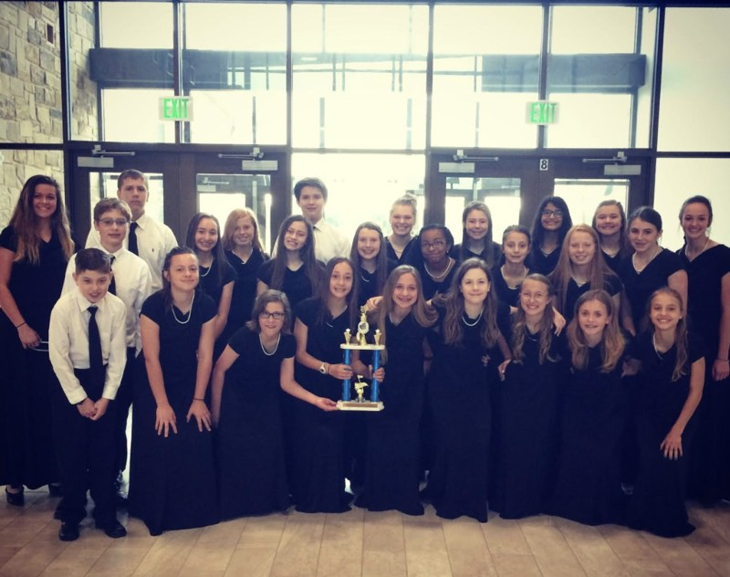 AMS CHOIR RECIEVED A SUPERIOR IN PERFORMANCE AT COMPETITION Thumbnail Image