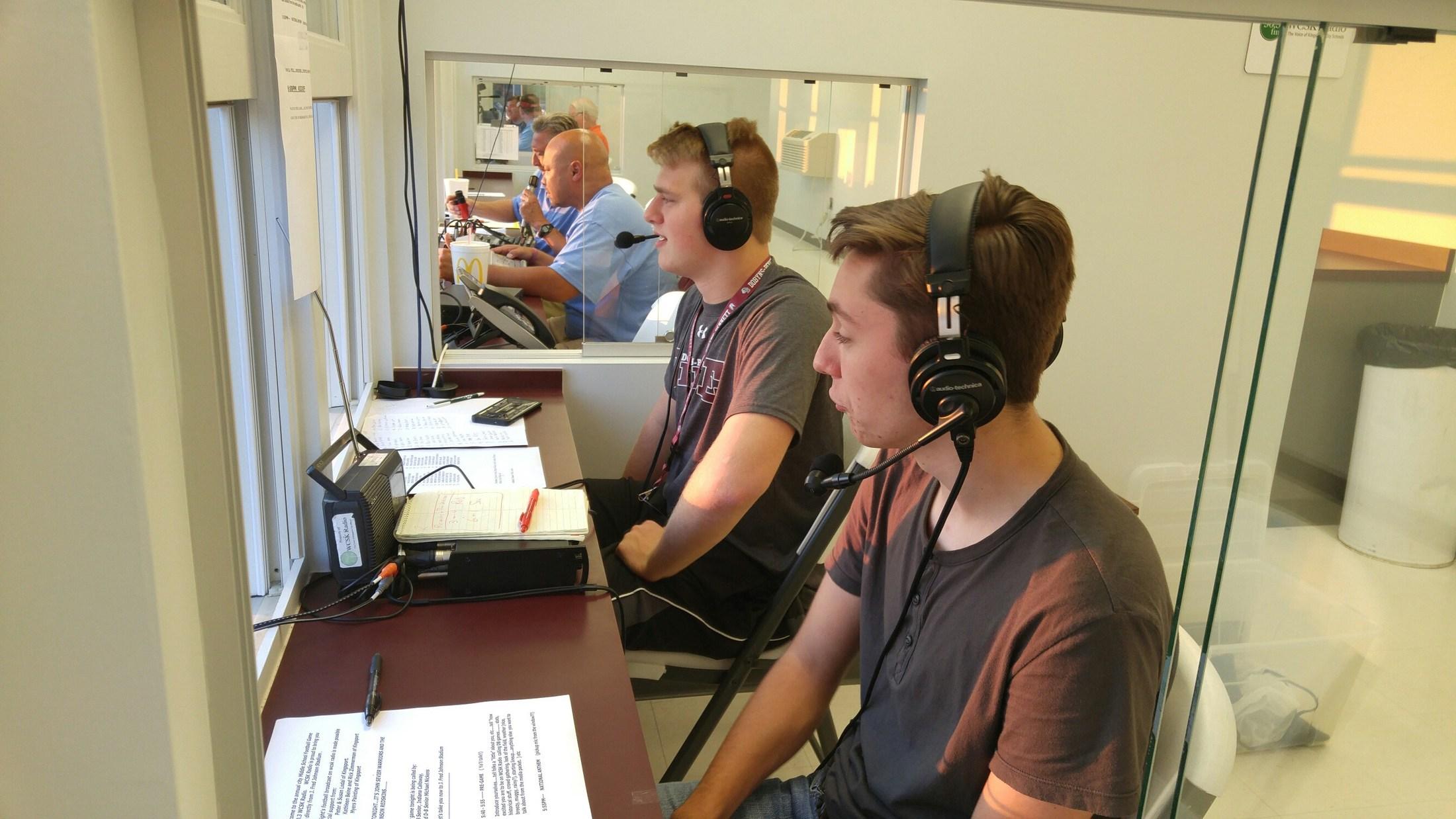 WCSK Radio Club students 2