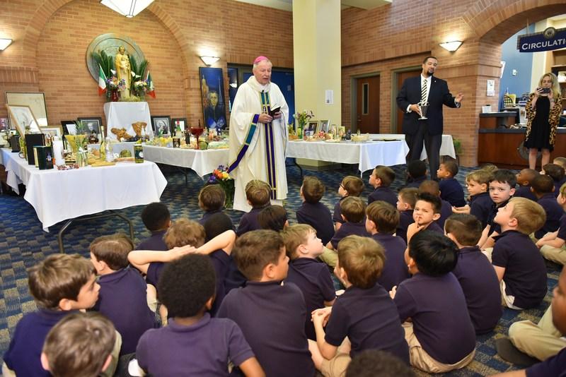 Archbishop Aymond Celebrates St. Joseph's Day with Holy Cross School Featured Photo