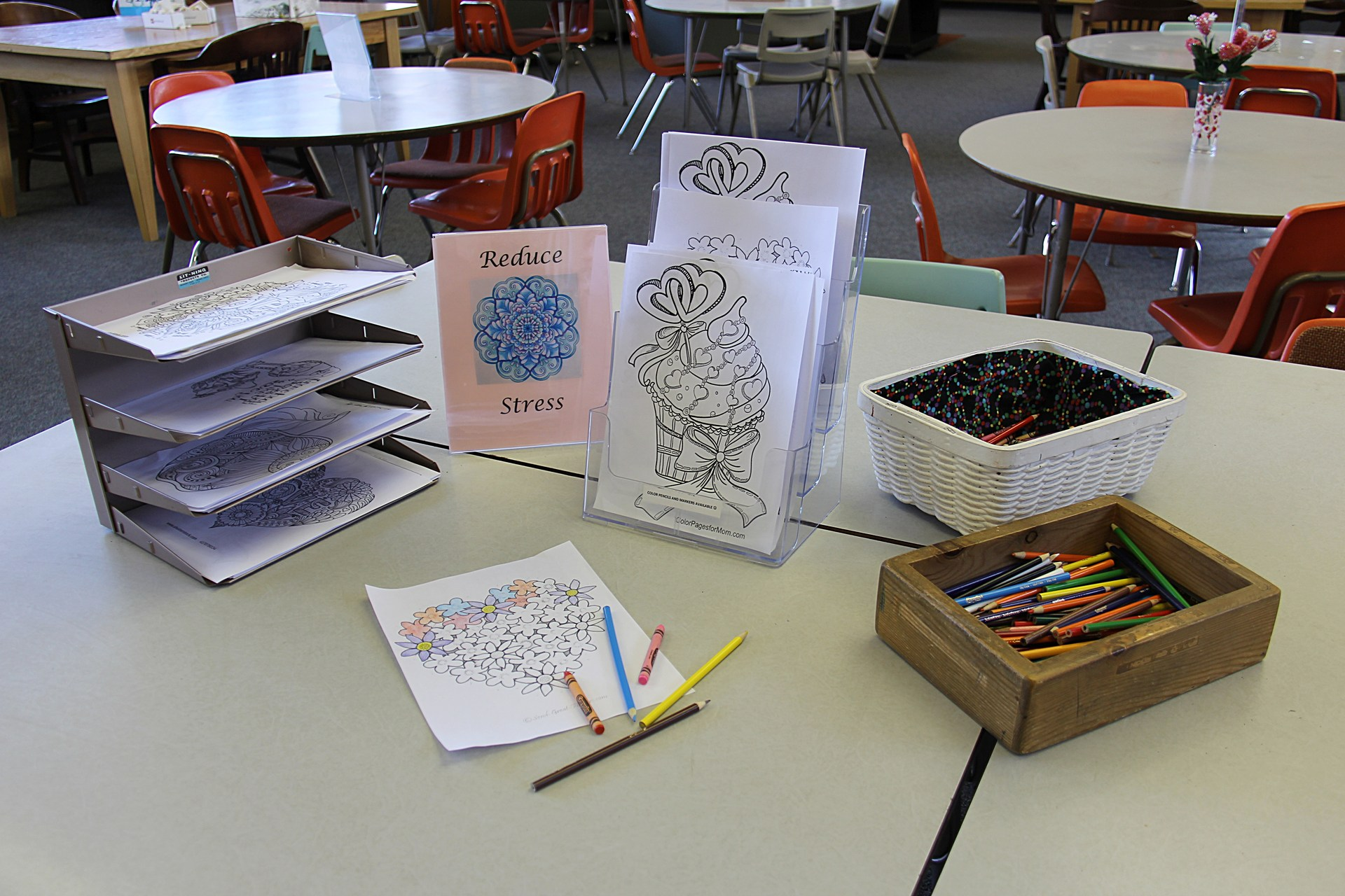 Image of Stress Relief with Art section in Library