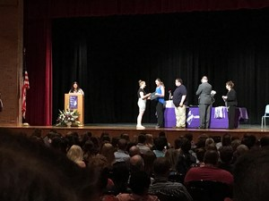 rylee north being inducted into the FLTCC Honor Society