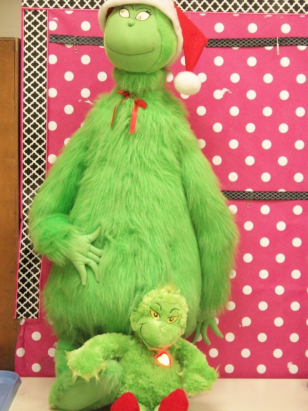 Two stuffed Grinches.
