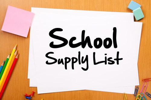 Supply Lists for the 2017-18 School Year Featured Photo