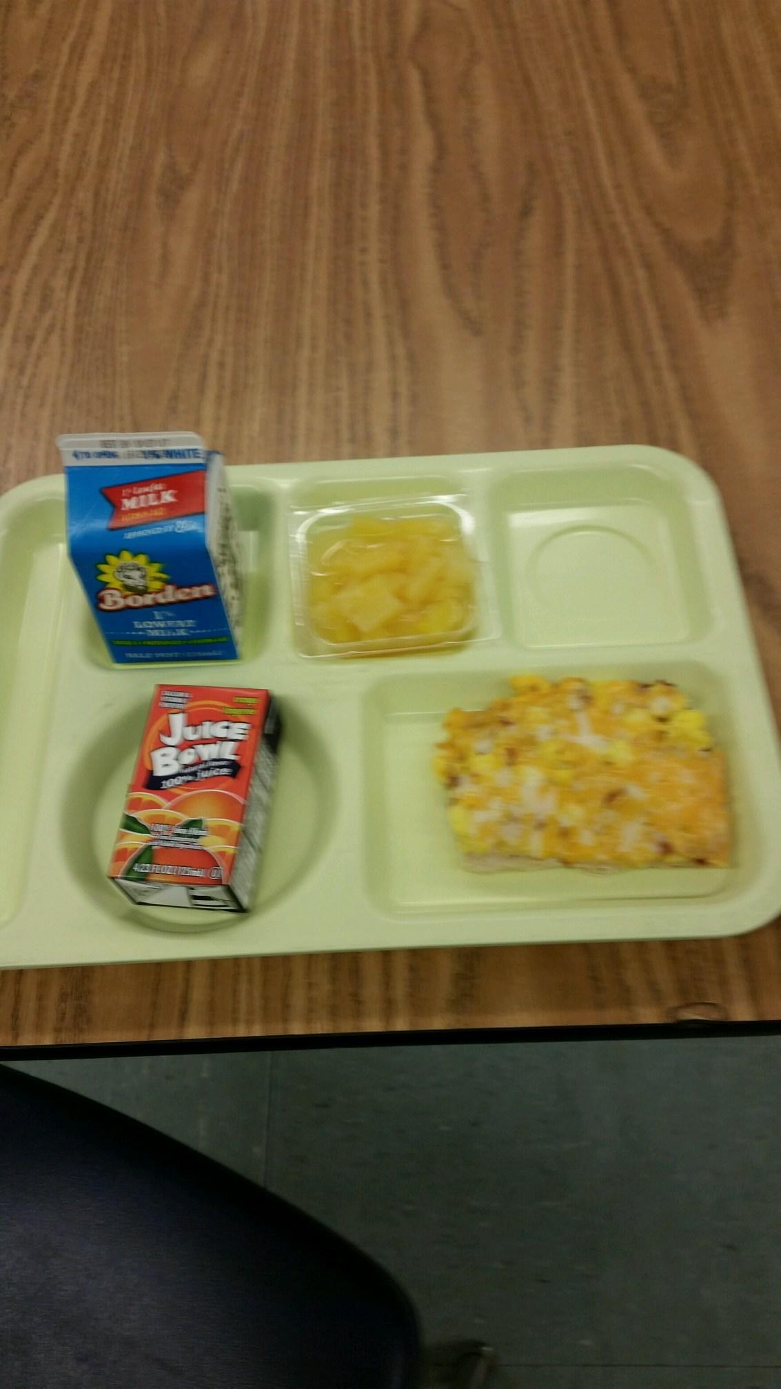bacon scramble breakfast tray