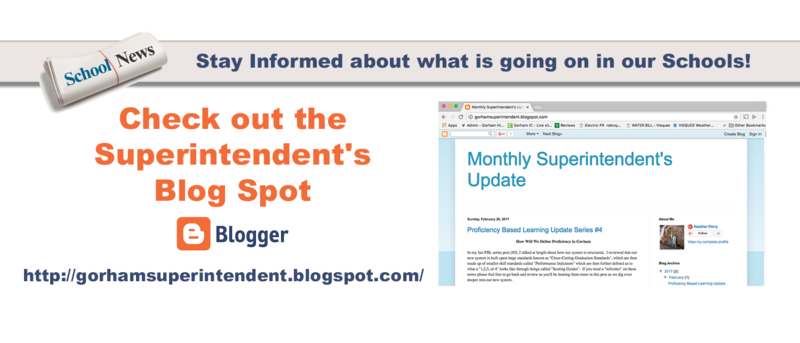 Check out the Superintendent's Blog Spot Thumbnail Image