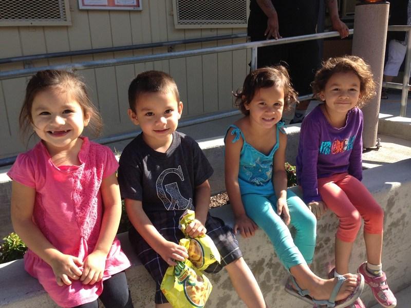 Preschool students waiting for vision screenings