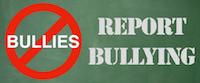 No Bullies - Report Bullying logo