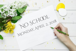No School Monday, April 2nd.