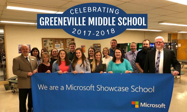 Greeneville Middle School is a Microsoft Showcase School 2017-18