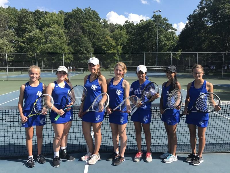UC's girls tennis teams defeats Paramus Catholic to raise record to 6-1 Thumbnail Image