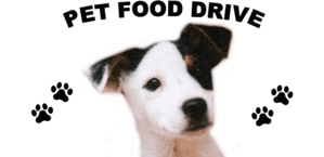 Pet Food Drive, dog with paw prints