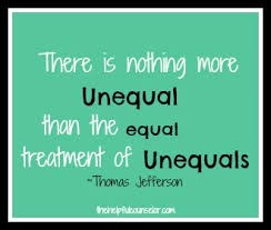 Equal vs. Unequal