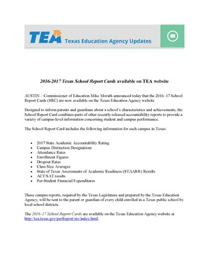 TEA report card