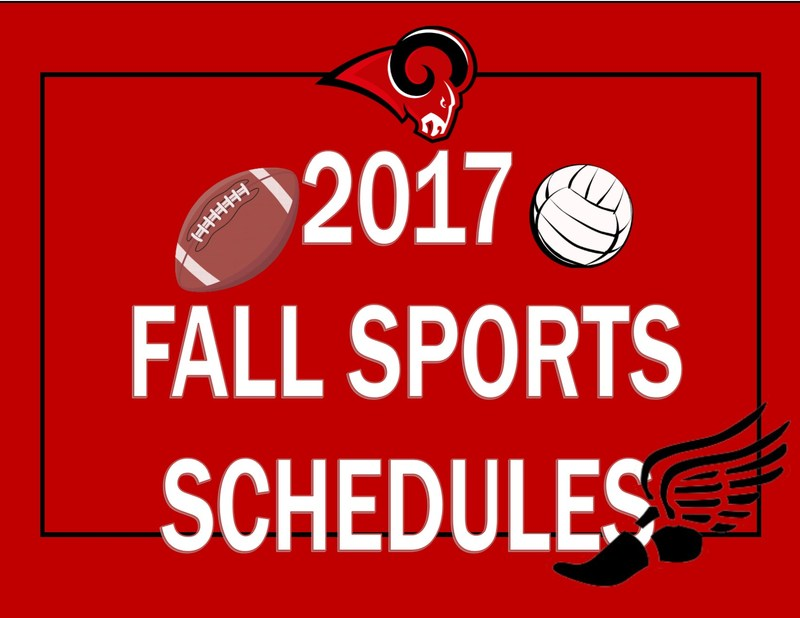 Sports Schedule for Fall MWJH