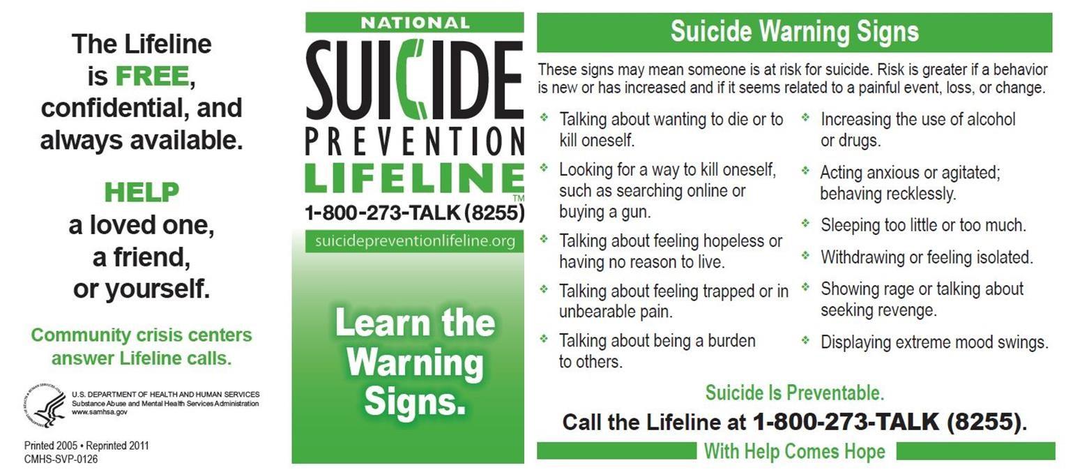 Suicide Lifeline Image