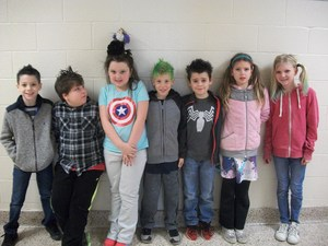 Students with crazy hair!